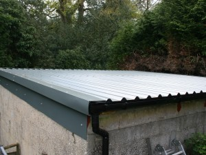 Flashing Edge Details To New Roof Asbestos Garage Roof