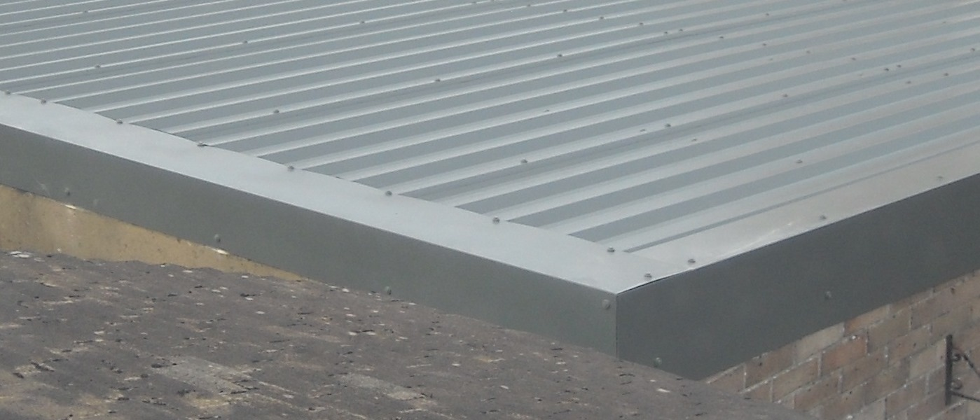 Flashing Edge Details to New Roof | Asbestos Garage Roof
