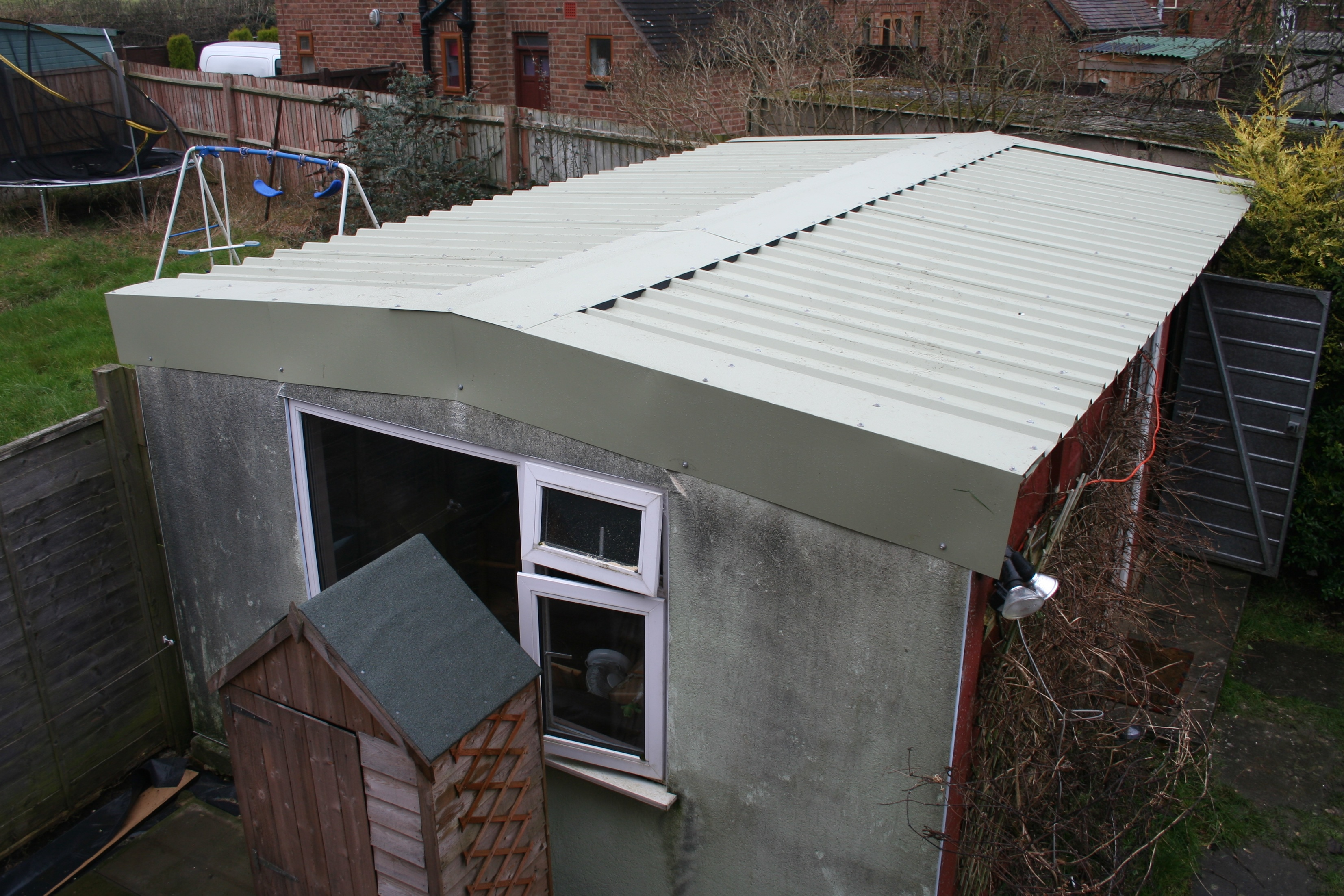 Asbestos garage roof recent projects asbestos garage roof for Cupola for garage